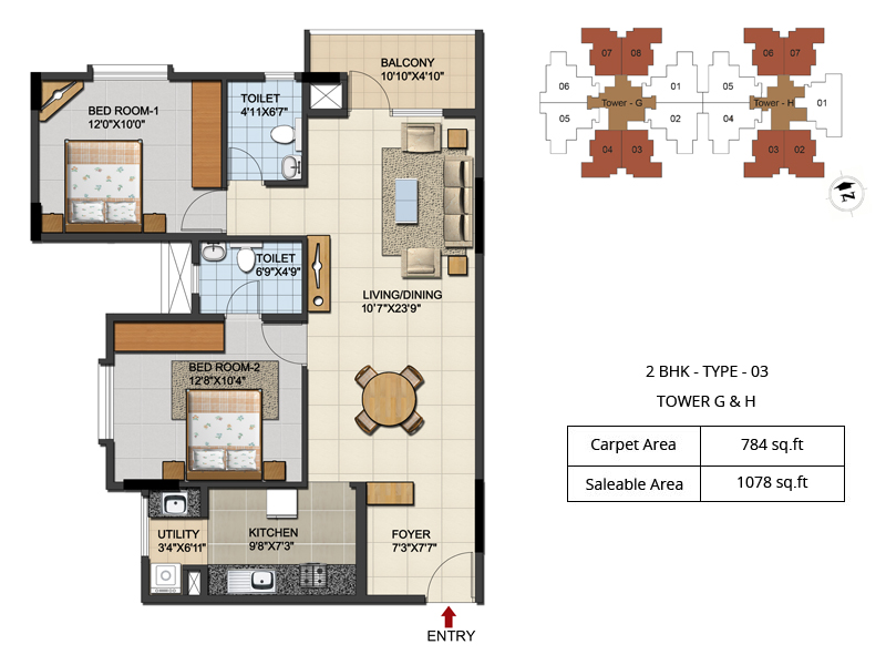 2 Amp 3 Bhk Apartment Near Hebbal Flyover Bangalore