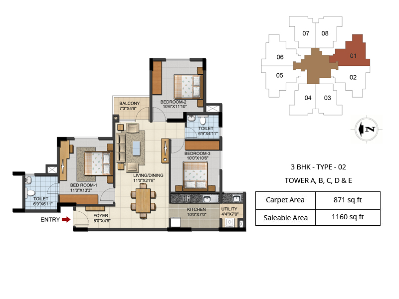 2 3 bhk apartment near hebbal flyover bangalore for 2 bhk flat drawing